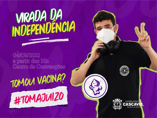 Prefa organiza Virada da Independência para vacinar 20 anos ou mais, em Cascavel