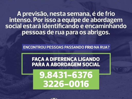 Cascavel organiza ação para proteger moradores em situação de rua do frio intenso