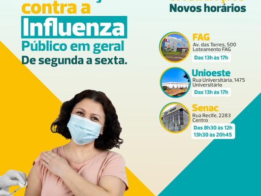 Locais para tomar a vacina contra a gripe em Cascavel