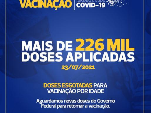 Cascavel zera estoque de vacinas contra a Covid-19 para 32 anos