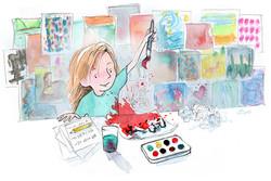 Honeycutt_girl_painting