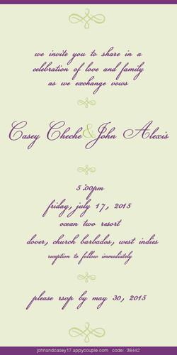 Wedding invitations (interior)