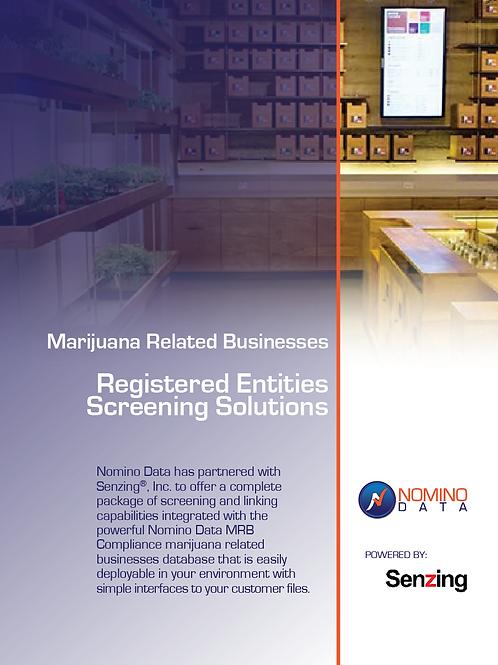 Senzing Nominodata Cannabis screening solution