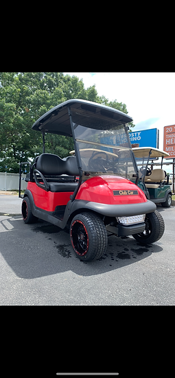 2015 Red Club Car Precedent With Street Rims