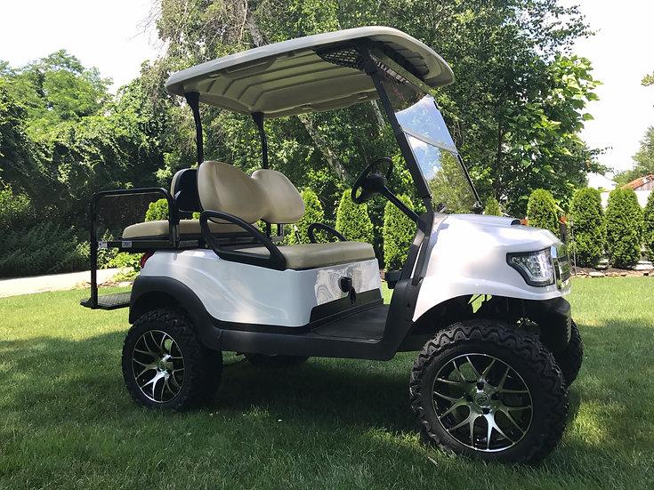 Club Car Alpha White 48 Custom lifted golf cart