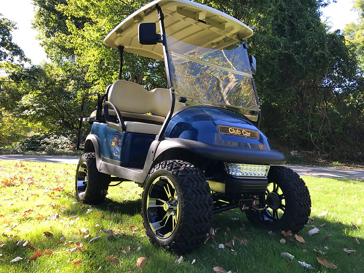 "2015 Blue 48V Club Car Precedent 6"" lifted off road"