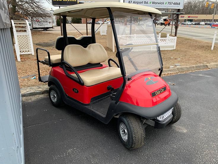 2015 Red 48v Club Car Precedent LED, Rear Seat New Batteries