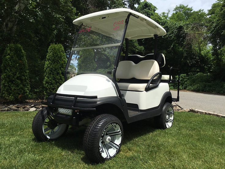 2016 White Club Car Precedent lifted two tone rims
