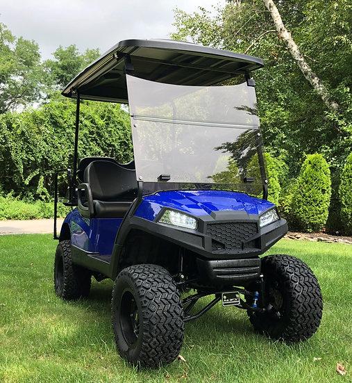 48v Yamaha HAVOC Custom Blue paint, lift and rear seat LED New Trojans batteries