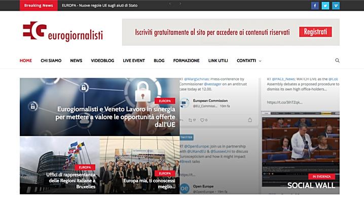 Eurogiornalisti, il sito si rinnova, i servizi crescono