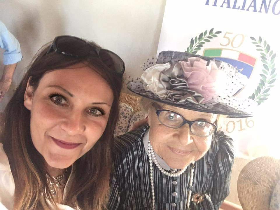 Marchesa Maria Adelaide Capranica del Grillo, Presidente Onorario dell'Associazione Piero Taruffi e Arianna Greco, artista salentina da anni collaboratrice del Museo Piero Taruffi