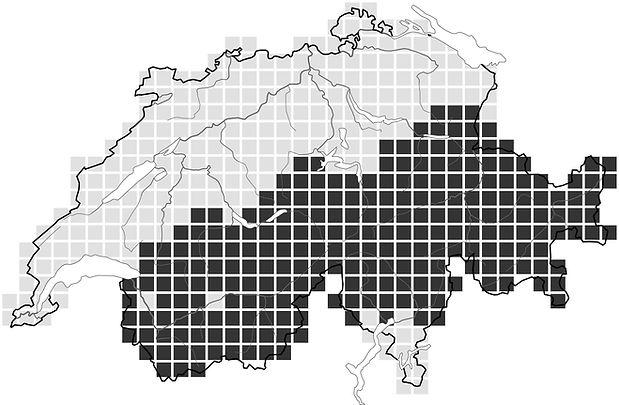 Répartition du Lagopède alpin en 1990