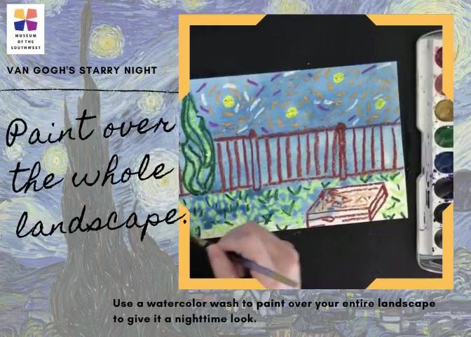 Create a Van Gogh Starry Night