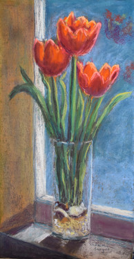 Tulips Greeting the Morning