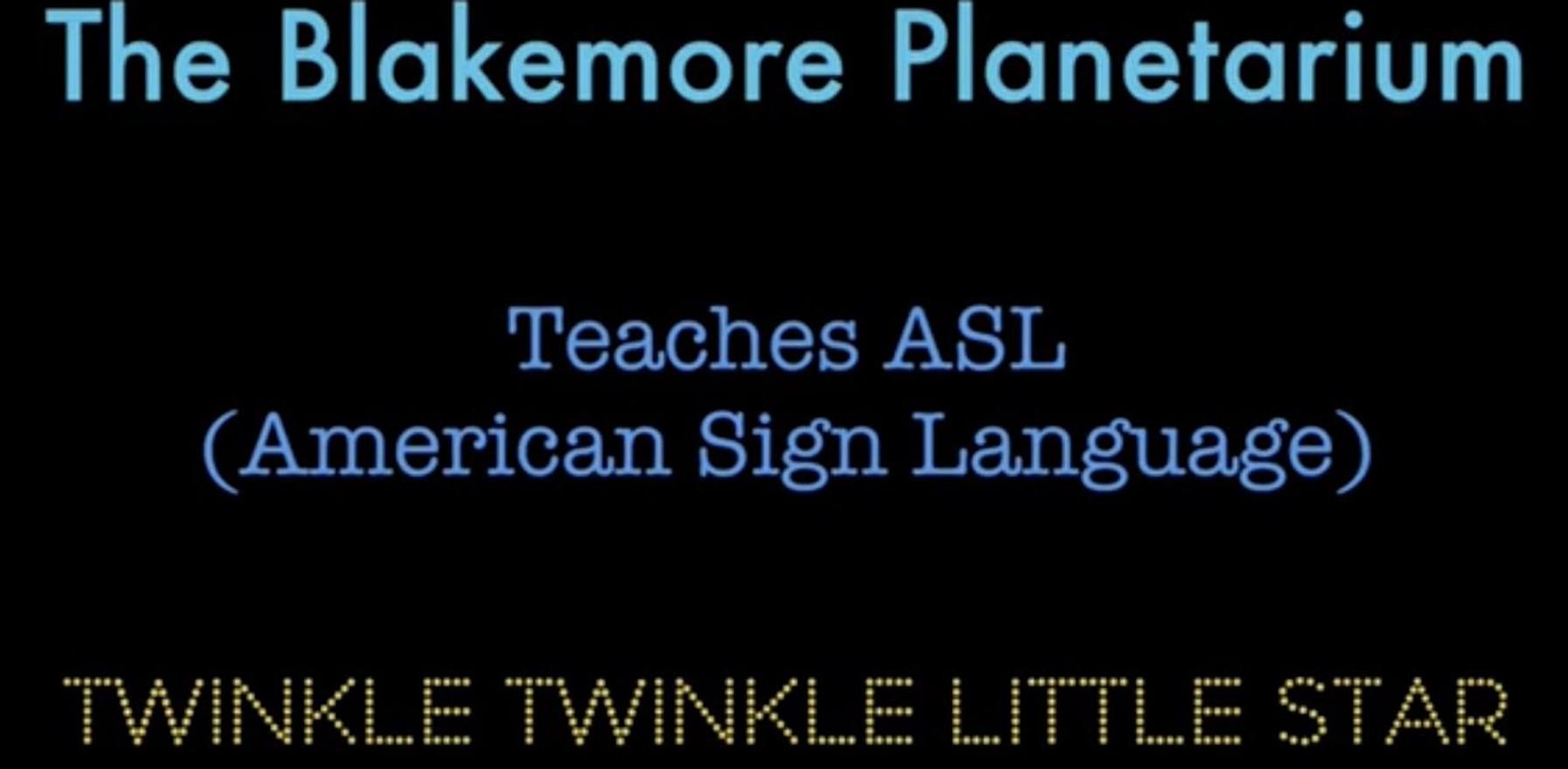 Twinkle Twinkle Little Star in ASL