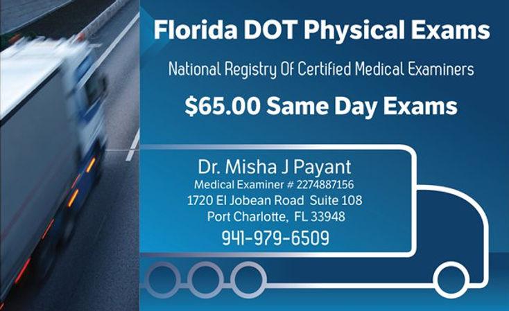 Florida DOT / CDL Physicals Doctor, Port Charlotte DOT Physicals, Charlotte County DOT Physicals