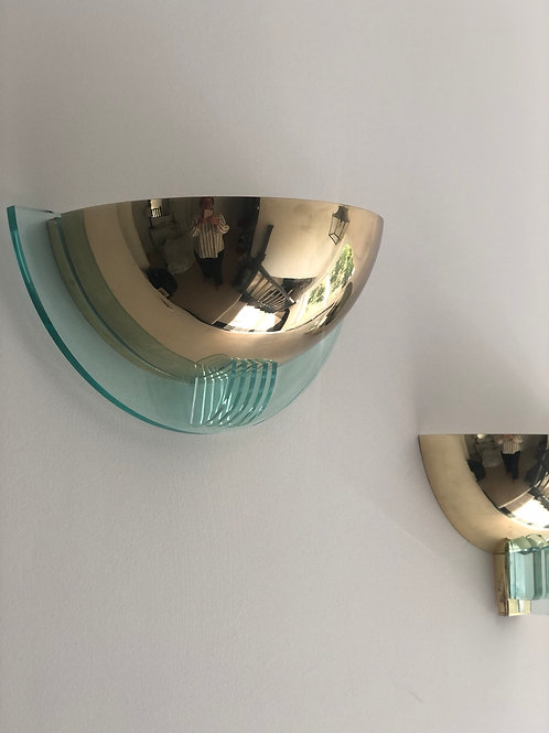 Pair of Dutch vintage wall lights