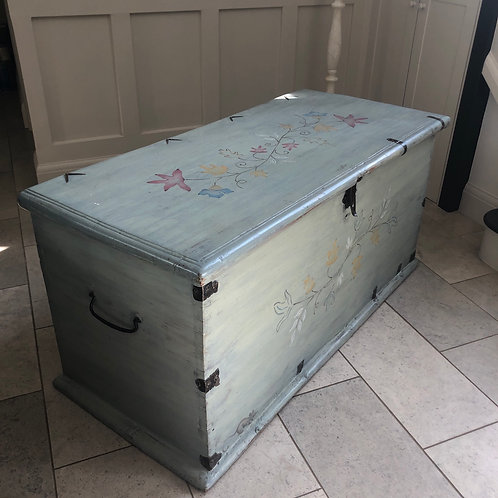 Large vintage painted chest
