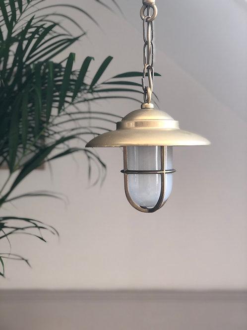 Brass and glass pendant/porch light