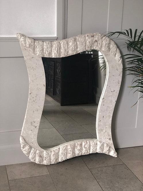 SOLD - Vintage  Stone Mirror