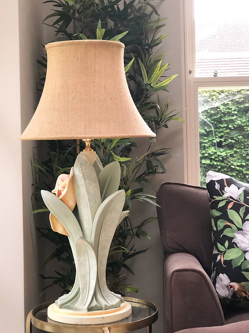 Large Vintage  French Lilly Lamp