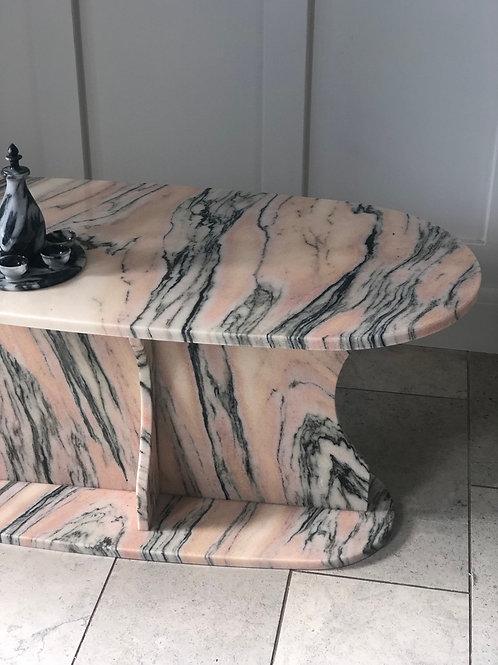 Pink Italian Marble Coffee Table
