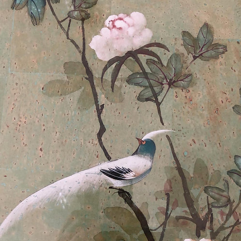 Pair or Chinese Watercolours in bamboo frames