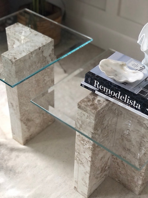 Beautiful  Marble Side Table. Pair Available