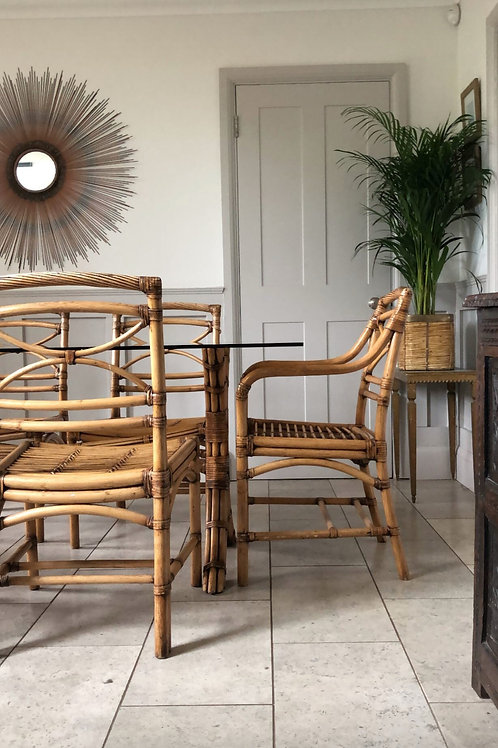 ON HOLD -Set of 6 bamboo chairs