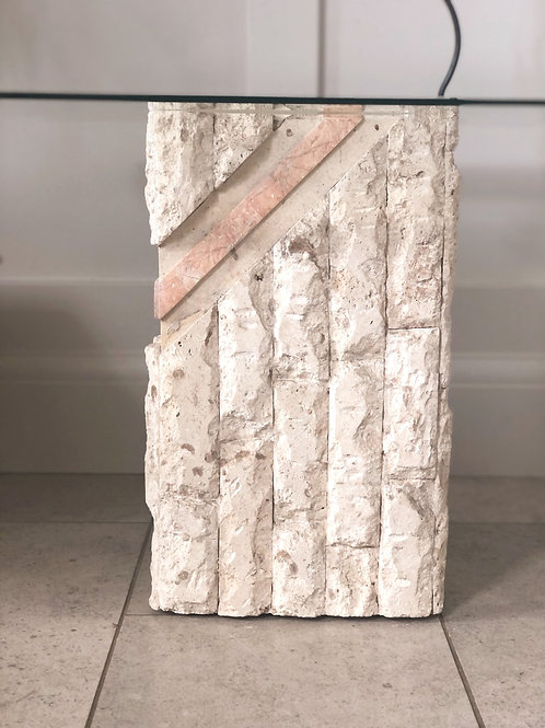 Striking 1980s stone side table
