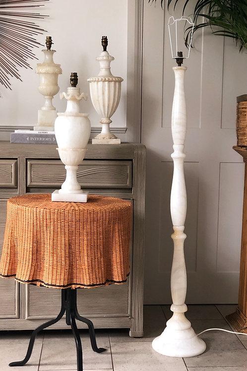 Solid Turned Marble Floor Lamp