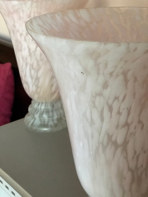 Large Vintage Heals Pink Glass Light