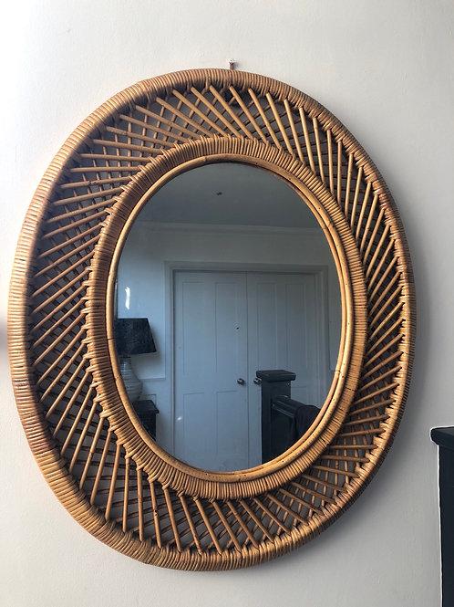 Mid Century Italian (?) Bamboo Mirror