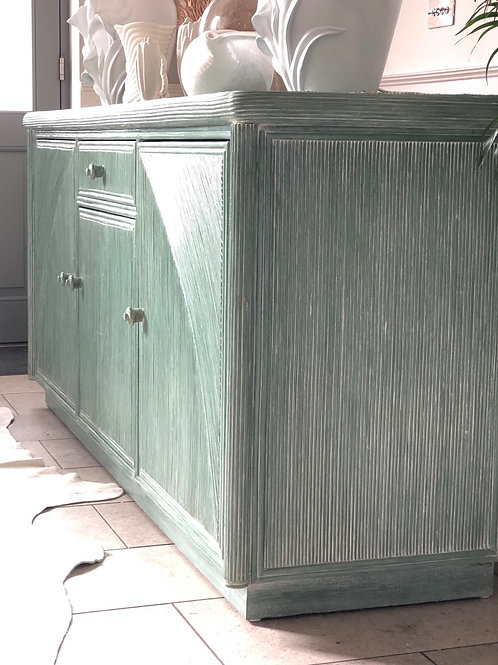 French pencil reed sideboard