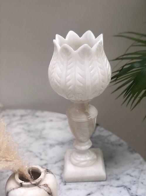 Vintage carved alabaster lamp