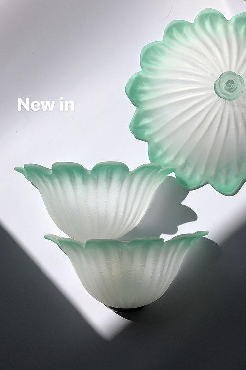 Pair of Italian art glass wall lights