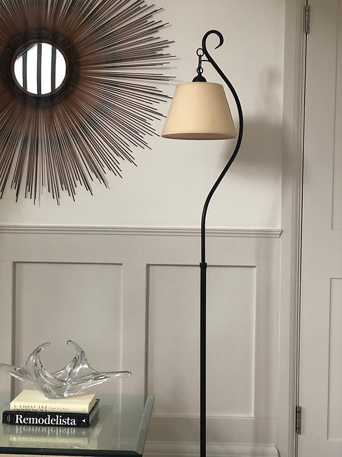 Vintage Cast Metal Floor Lamp
