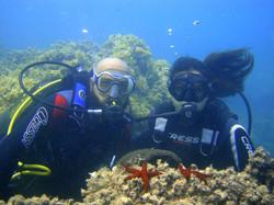 Giovanni e Carmen in immersione