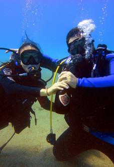 Anniversario di fidanzamento subacqueo