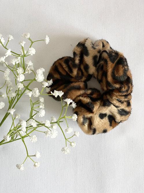 Chouchou imitation peau de bête léopard
