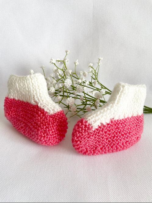 Chaussons de naissance montants fille