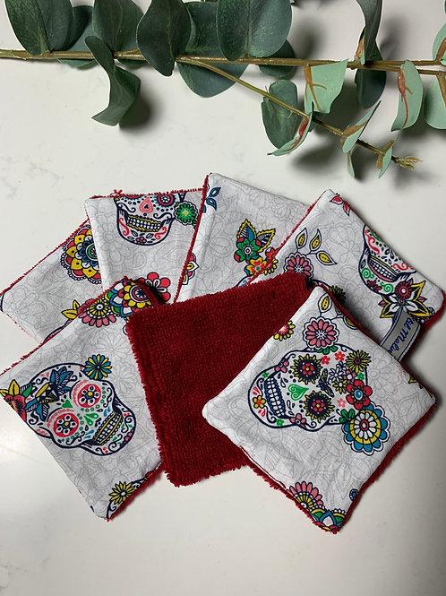 Semainier de lingettes lavables nettoyantes coton