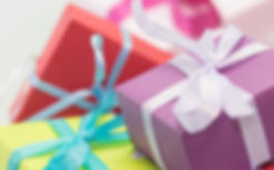 wrapped presents with bows