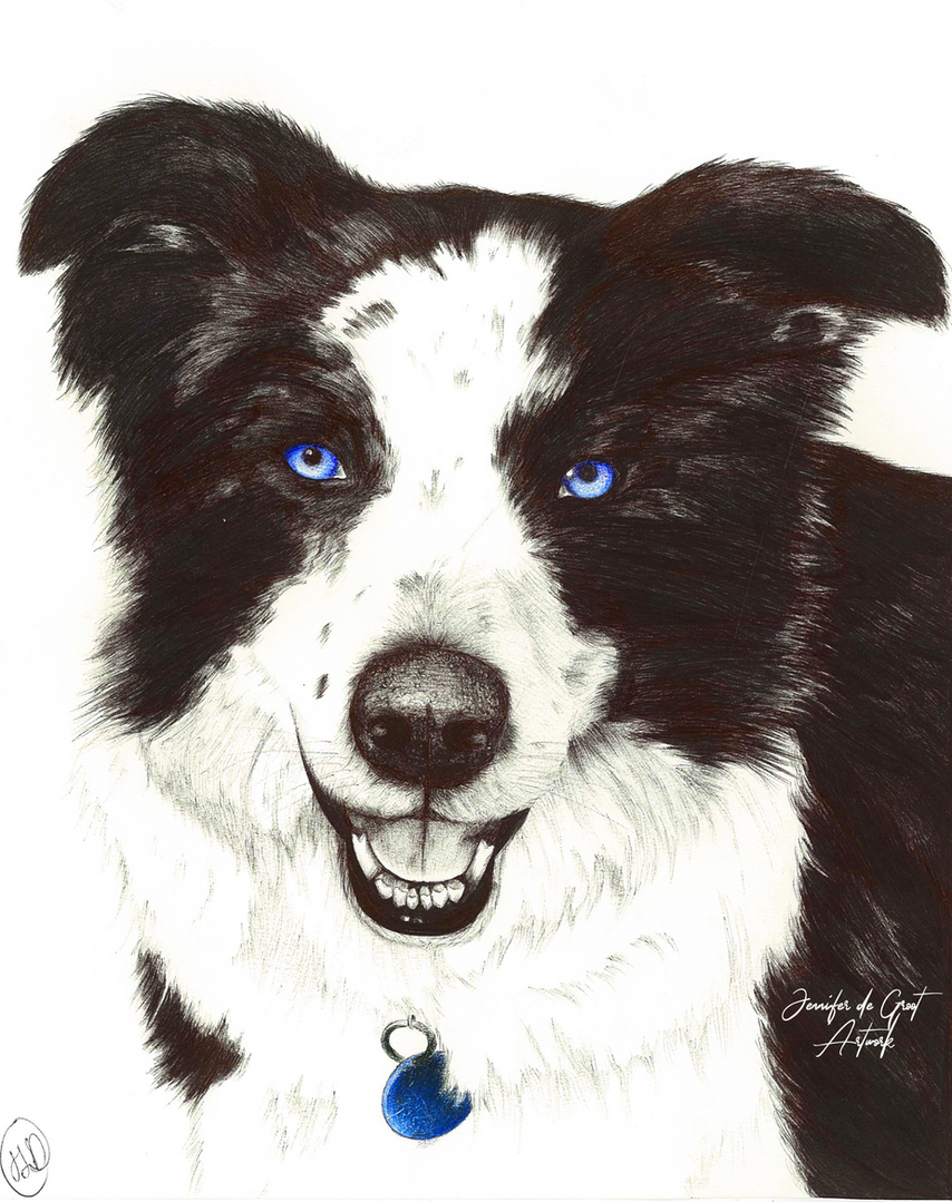 Blue - Original sold, prints available for $35