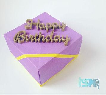 Origami Box with 3D Printed Text _علبة صغيرة من ورق الاوريجامي مع احرف ثلاثية الأبعاد مطبوعة _We 3D