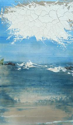 espace bleu variation #192 (60x100cm)