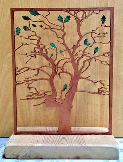 Single panel for three or four sided box