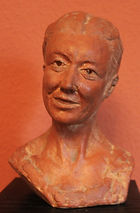 Portrait sculpture by Rob Leighton sculptor Kent UK