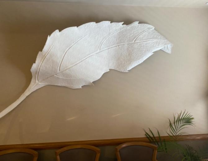 Existing, damaged papier mache relief.