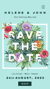Events website templates – Save the Date